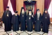 Состоялась встреча Патриарха Иерусалимского Феофила с начальником Русской духовной миссии в Иерусалиме