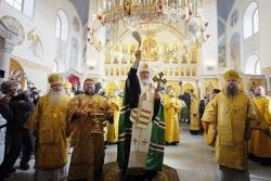 Святейший Патриарх Кирилл освятил храм в честь Казанской иконы Божией Матери в Орле