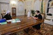 Предстоятель Русской Церкви встретился с председателем Патриаршего совета по культуре