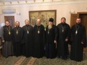 Управляющий делами Украинской Православной Церкви встретился с настоятелями гонимых общин