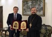 Представитель Патриарха Московского и всея Руси при Антиохийском Патриархе встретился с послом России в Сирии