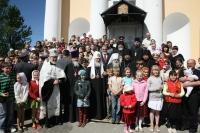 Предстоятель Русской Церкви посетил храм св. вмц. Екатерины в Мурине