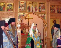 Предстоятель Русской Православной Церкви совершил молебен с акафистом у Курской-Коренной иконы Божией Матери в Мюнхене