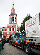 Колокола Данилова монастыря прибыли в Москву