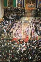 В Неделю Пятую Великого поста Святейший Патриарх Кирилл совершил Божественную литургию в Исаакиевском соборе