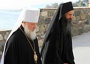 Митрополит Кирилл освятил больничный корпус Русского Пантелеимонова монастыря на Святой Горе Афон
