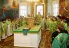 Празднование 350-летия Вятской епархии. Божественная литургия в Свято-Успенском соборе Трифонова монастыря. Прославление Собора вятских святых.