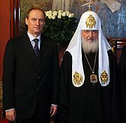 Святейший Патриарх Кирилл встретился с Секретарем Совета безопасности Российской Федерации Н.П. Патрушевым