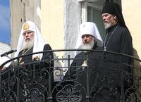 Патриаршее слово с балкона в Спасо-Прилуцком монастыре