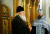 21 февраля 2008 г., Москва. На богослужении в храме св. вмц. Екатерины (подворье Православной Церкви в Америке).