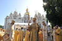 В день памяти святого равноапостольного великого князя Владимира в Киево-Печерской лавре совершена праздничная Божественная литургия