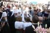 Заключительный день Патриаршего визита в Киев. Литургия на Соборной площади Киево-Печерской лавры, посещение выставки православных икон, выступление в дворце «Украина».