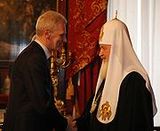 Состоялась беседа Предстоятеля Русской Православной Церкви с министром образования РФ А.А. Фурсенко