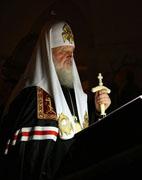 Святейший Патриарх Кирилл совершил повечерие с чтением Великого канона прп. Андрея Критского в Преображенской церкви кафедрального Храма Христа Спасителя