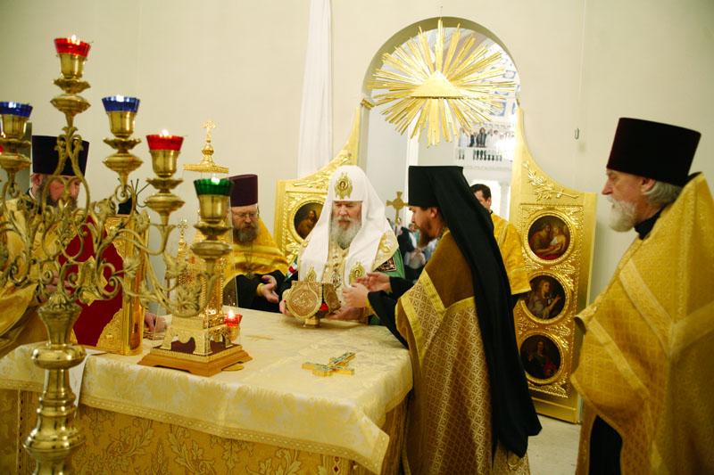 Освящение храма в честь Живоначальной Троицы при НИИ Скорой помощи имени Н.В. Склифосовского