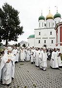 Митрополит Ювеналий освятил храм в честь Тихвинской иконы Божией Матери в Коломне