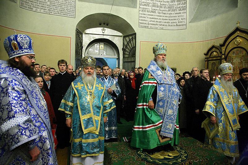 Патриарший молебен в Донском монастыре