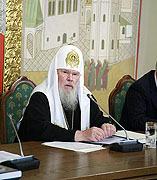 Выступления Святейшего Патриарха Алексия на совместном заседании Советов по изданию 'Православной энциклопедии'