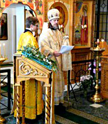 Епископ Егорьевский Марк возглавил праздничное богослужение в домовом храме Паломнического центра Московского Патриархата