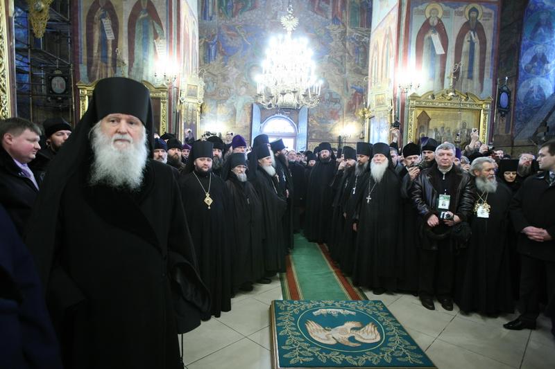Богослужение избранного и нареченного Патриарха Московского и всея Руси в Троице-Сергиевой лавре