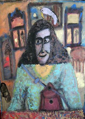 ╚Искусствовед Алла Зайцева принимает на выставку ковёр╩ (1992)