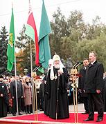 Предстоятель Русской Церкви принял участие в торжественном открытии площади Победы в Витебске