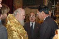 Святейший Патриарх Алексий встретился с делегацией Православного комитета и Общества верующих КНДР