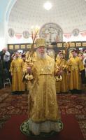 Святейший Патриарх совершил Божественную литургию в храме св. мц. Татианы при МГУ им. М.В. Ломоносова
