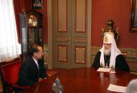 Встреча Святейшего Патриарха Кирилла с министром иностранных дел Республики Сингапур Джорджем Ео