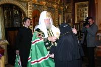 Святейший Патриарх возвел в сан игумении монахиню Рафаилу (Хильчук), настоятельницу Свято-Троицкого Корецкого ставропигиального монастыря