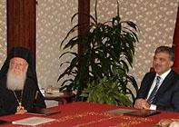 Президент Турции Абдулла Гюль обещал содействовать решению проблем Константинопольского Патриархата