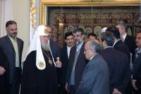 Святейший Патриарх Алексий принял делегацию Собрания исламского совета республики Иран