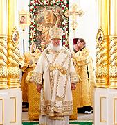 Предстоятель Русской Церкви совершил Божественную литургию в храме Архангела Михаила в Коломне