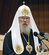 Святейший Патриарх Алексий выступил на Соборных слушаниях Всемирного русского народного собора