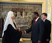 Слово Святейшего Патриарха Алексия на встрече с генеральным секретарем Всемирного баптистского альянса пастором Невилем Каламом