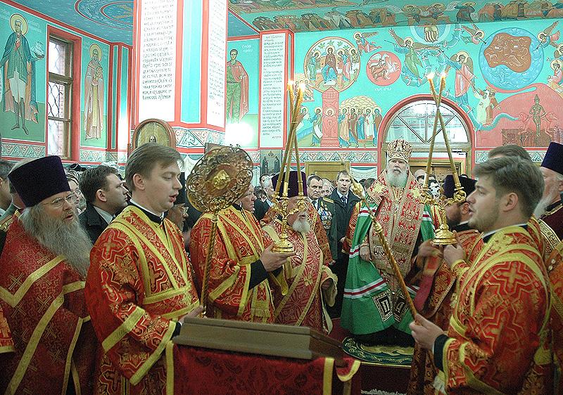Патриарший молебен в храме вмц. Варвары во Власихе (при штабе РВСН)