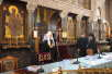 Патриарший визит на Украину. День третий. Встреча Святейшего Патриарха Кирилла с представителями церковной и светской интеллигенции в Киевской духовной академии.