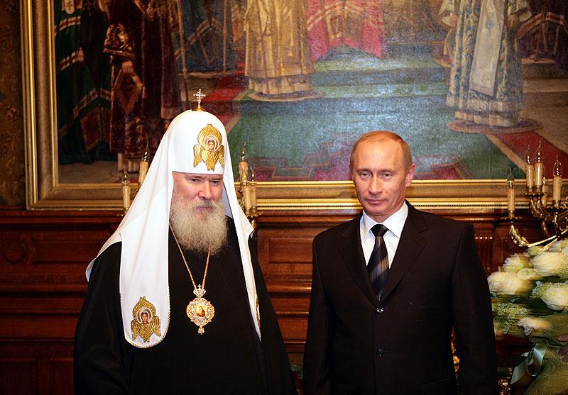 Встреча Святейшего Патриарха Алексия с Президентом России В.В. Путиным