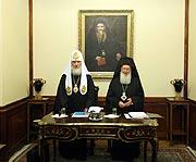 Святейший Патриарх Кирилл: Переговоры Предстоятелей Константинопольской и Русской Православных Церквей прошли в конструктивном духе
