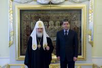 Предстоятель Русской Православной Церкви встретился с Президентом Болгарии Георгием Пырвановым