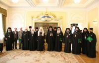 Состоялась официальная встреча Святейшего Патриарха Алексия с делегацией Кипрской Православной Церкви