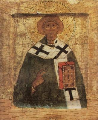 Священномученик Климент. Икона. Русский Север. Начало XVI века