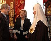 Святейший Патриарх Алексий встретился c Министром развития туризма Греческой Республики