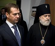 Состоялся официальный визит первого заместителя премьер-министра РФ Д.А. Медведева в Московскую духовную академию