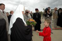 Святейший Патриарх прибыл на торжества, посвященные 300-летию Саровской пустыни