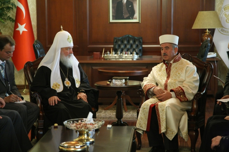 Визит Святейшего Патриарха в Анкару. День третий. Встреча с председателем Управления по делам религии Турции профессором Али Бардакоглу