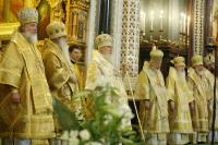 В день тезоименитства Святейшего Патриарха Алексия в Храме Христа Спасителя состоялось праздничное богослужение