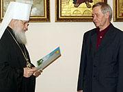 Митрополит Кирилл вручил церковные награды видным политическим, религиозным, культурным и общественным деятелям