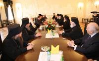 Предстоятель Русской Православной Церкви принял делегацию Греческой архиепископии в Америке