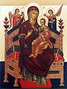 Чудотворный образ Божией Матери 'Всецарица', написанный на Святой Горе Афон, будет принесен в Орловскую епархию